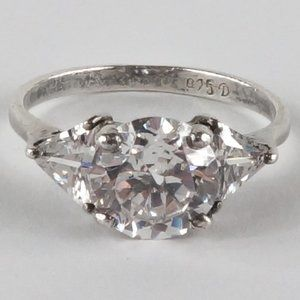 Jewelry - 3 Stone Sterling Silver Ring Engagement Style